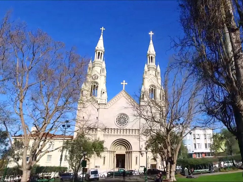 The SS Peter and Paul's Church in San Francisco: (Sly Dog Production - YouTube)