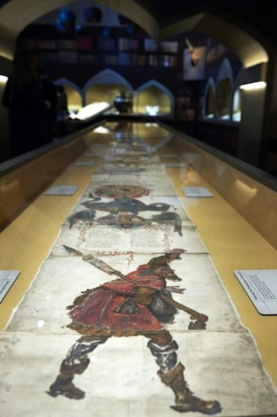 "The Ripley Scroll, a manuscript of symbolic imagery from the 1500s describing how to create the philosopher's stone, is being displayed in the British Library's new ""Harry Potter"" show"