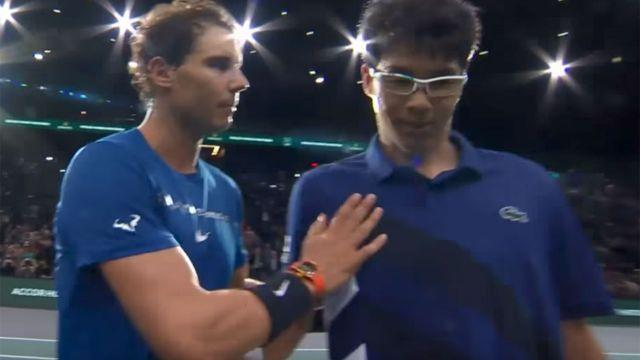They also shared a nice moment at the net. Image: Tennis TV