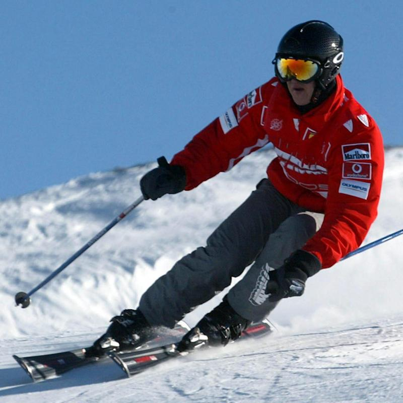 Schumacher during a ski race in the ski resort Madonna di Campiglio, Italy in January 2005 (EPA)