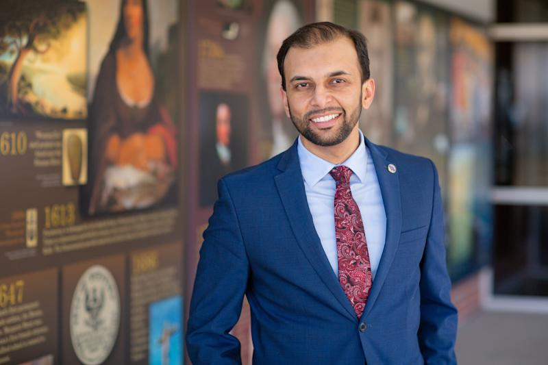 """Qasim Rashid, a Virginia state Senate candidate, said the attacks don't deter him from running for office. """"In fact, [they] embolden me to fight with more conviction for these values of fairness and justice and inclusivity and pluralism that our society is lacking,"""" he said. (Photo: Marion Meakem Photography)"""