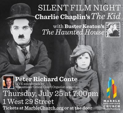 Marble Church Hosts Silent Film Night with Live Music by World-Renowned Organist