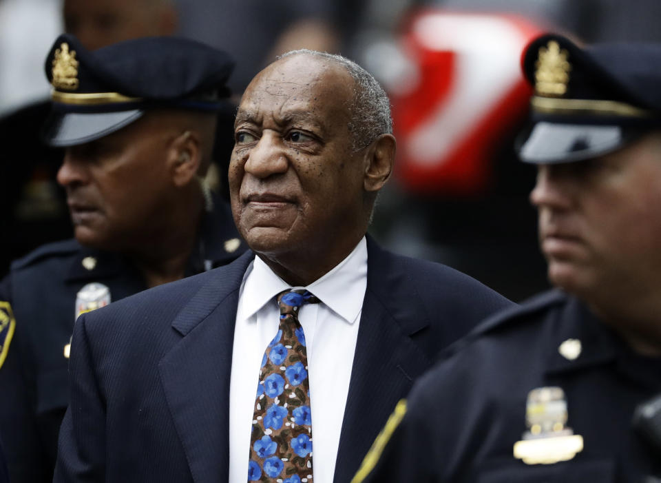 Bill Cosby arrives for his sentencing hearing at the Montgomery County Courthouse in Norristown, Pa., on Sept. 24. (AP Photo/Matt Slocum)