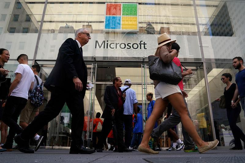 FILE PHOTO: A Microsoft store is pictured in New York City