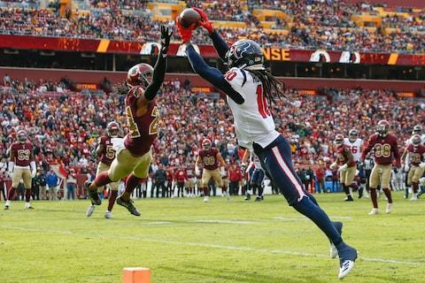<span>There's even more pressure on DeAndre Hopkins with Will Fuller out injured</span> <span>Credit: AP Photo/Alex Brandon </span>