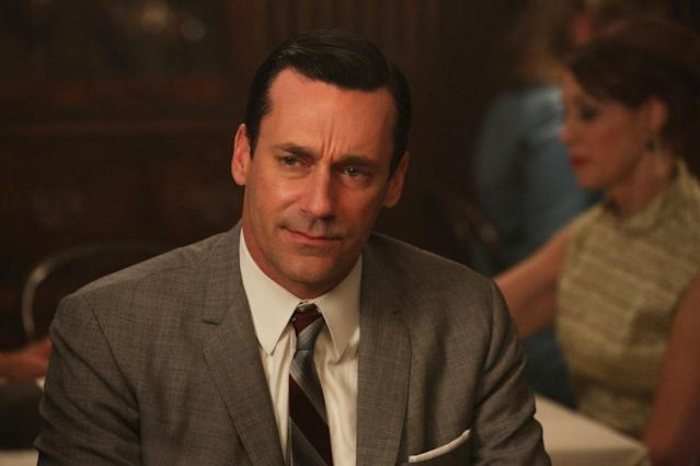 "Don Draper (Jon Hamm) in the ""Mad Men"" episode, ""Favors."""