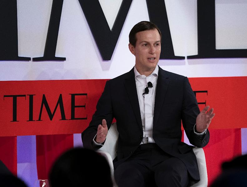Jared Kushner, US President Donald Trump's son-in-law and senior advisor, speaks during the Time 100 Summit event April 23, 2019 in New York (AFP Photo/Don Emmert)