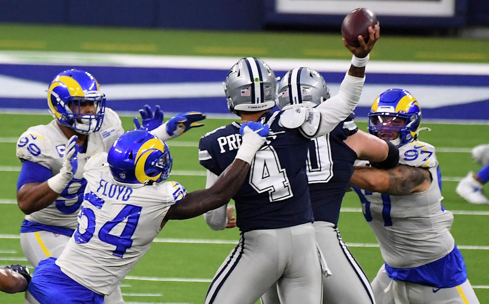 Dak Prescott and the Cowboys didn't draw huge initial viewership numbers. (Photo by Keith Birmingham/MediaNews Group/Pasadena Star-News via Getty Images)