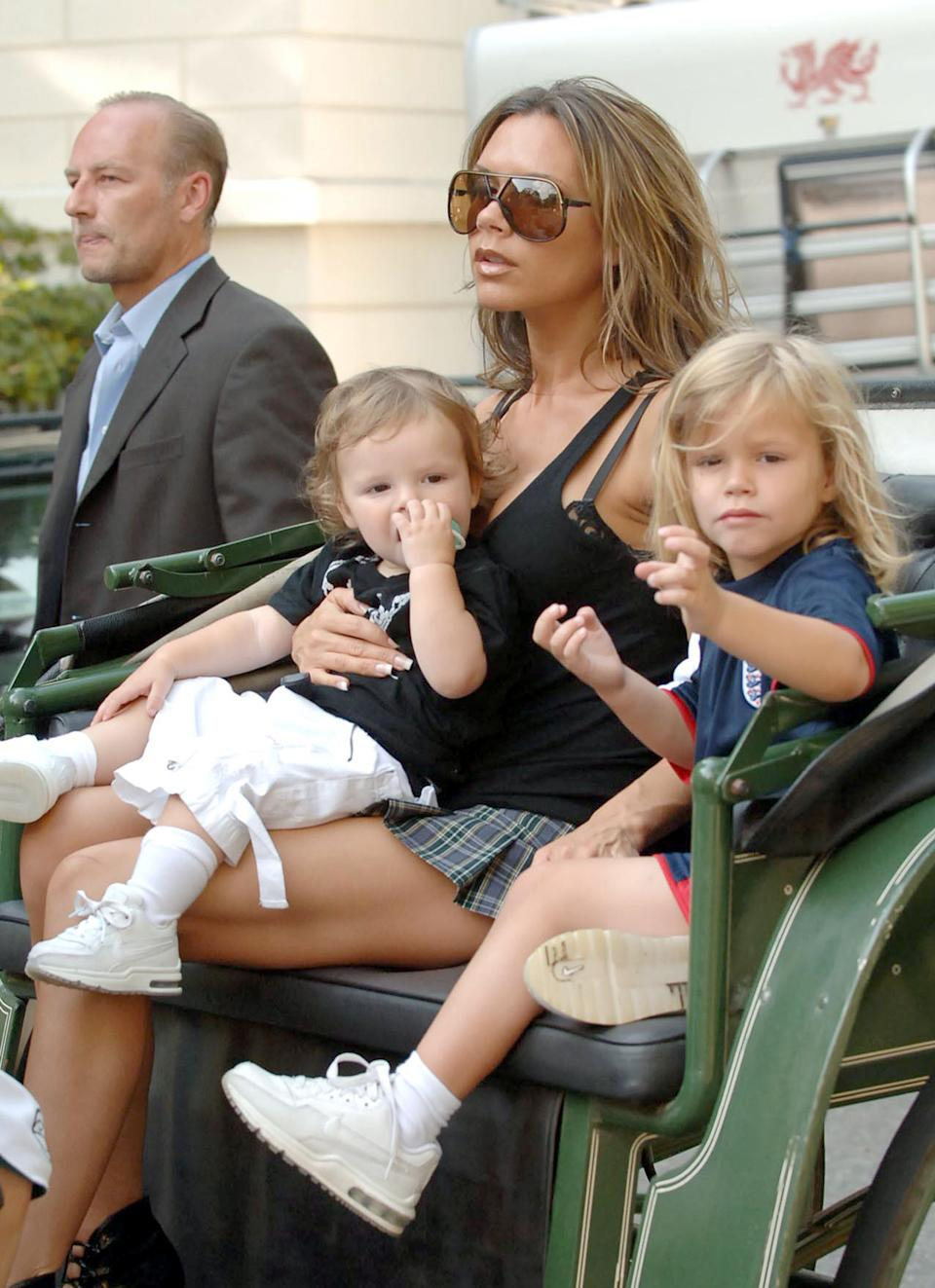Victoria Beckham brought her three sons along to Baden Baden for the 2006 World Cup [Photo: Getty]