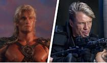 <p>A skilled warrior from the planet Eternia, He-Man ends up on Earth after an encounter with the villainous Skeletor. It was one of Dolph Lundgren's earliest roles after a small appearance in 'A View to a Kill' and starring as Ivan Drago in 'Rocky IV'. Of course, he's since become an action-movie legend, starring in the likes of 'Universal Soldier' and 'The Expendables'. </p>
