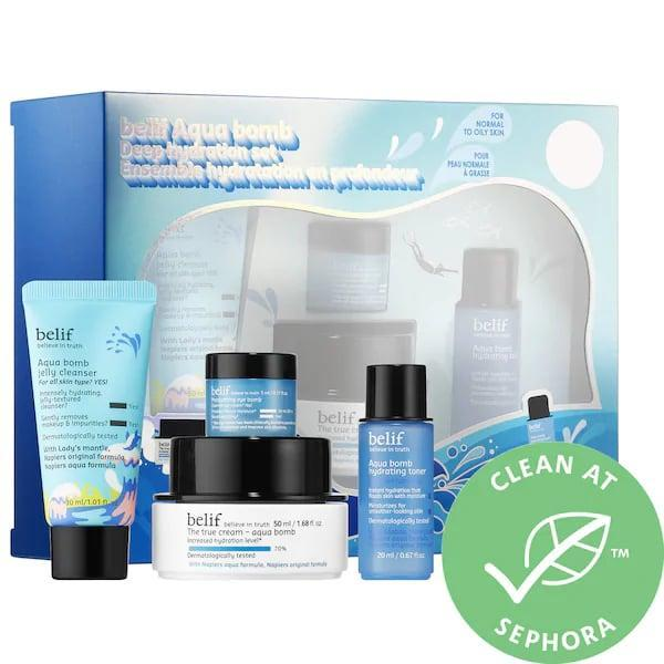 <p>Winter is coming, and anyone you love with dry skin will surely appreciate the rich moisture packed inside all four items in this <span>Belif Aqua Bomb Deep Hydration Set</span> ($38).</p>