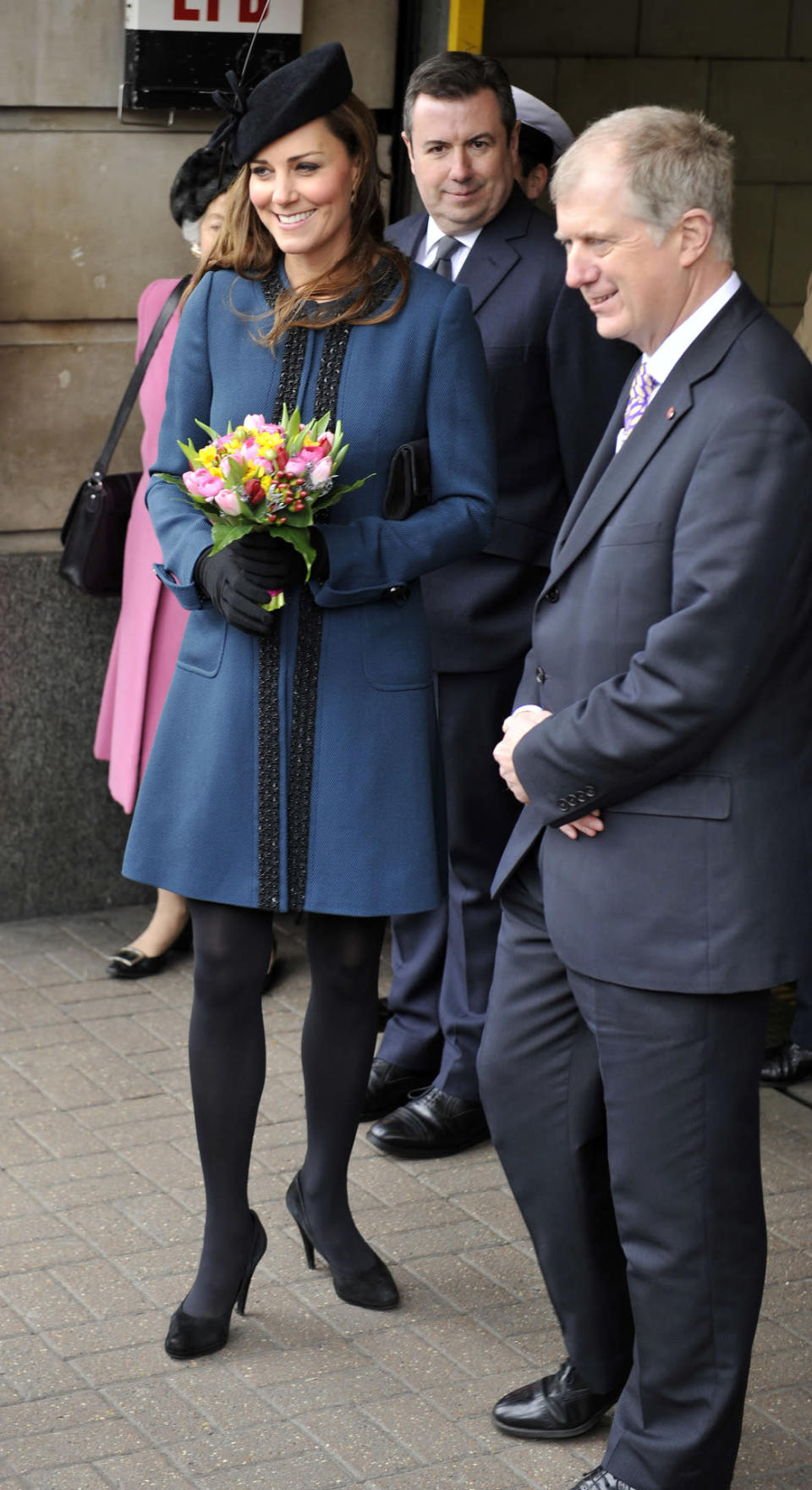 <p>For the 150th anniversary of the Tube, Kate went underground in a teal blue By Malene Birger coat. She accessorised with a Whiteley beret and black Episode pumps. </p><p><i>[Photo: PA]</i></p>