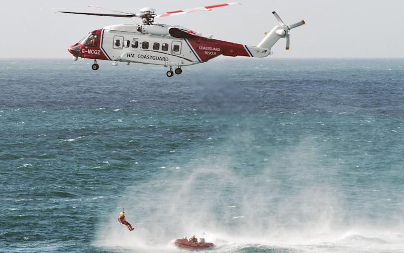 The rescue featured a helicopter in a scenario similar to this picture - APEX