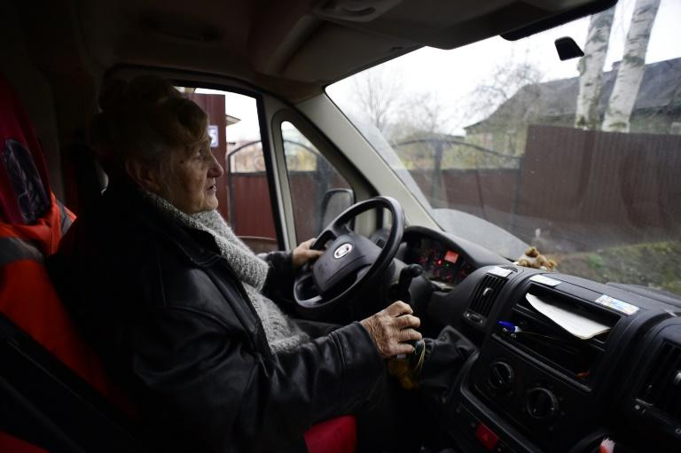 """A decade ago Galina Yakovleva created the charity """"Dobrota"""" -- or """"Kindness"""" -- a one-woman operation where she works as director, manager and driver for needy pensions in Saint Petersburg"""