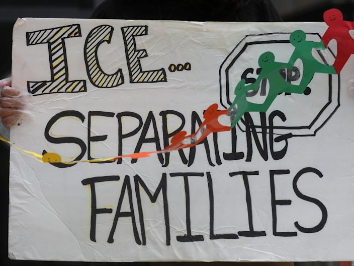 ice protest separating families