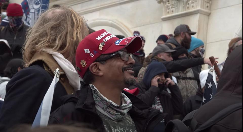 """Danny """"DJ"""" Rodriguez, pictured at the U.S. Capitol on Jan. 6. (Photo: YouTube)"""