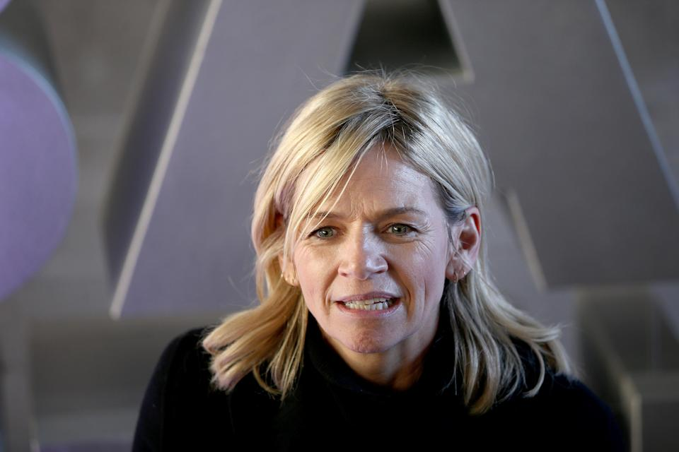 Zoe Ball outside Wogan House in London after her first morning hosting the BBC 2 Breakfast Show.