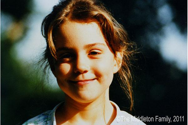 Kate Middleton, aged five, in the UK. Picture by: The Middleton Family / Splash News