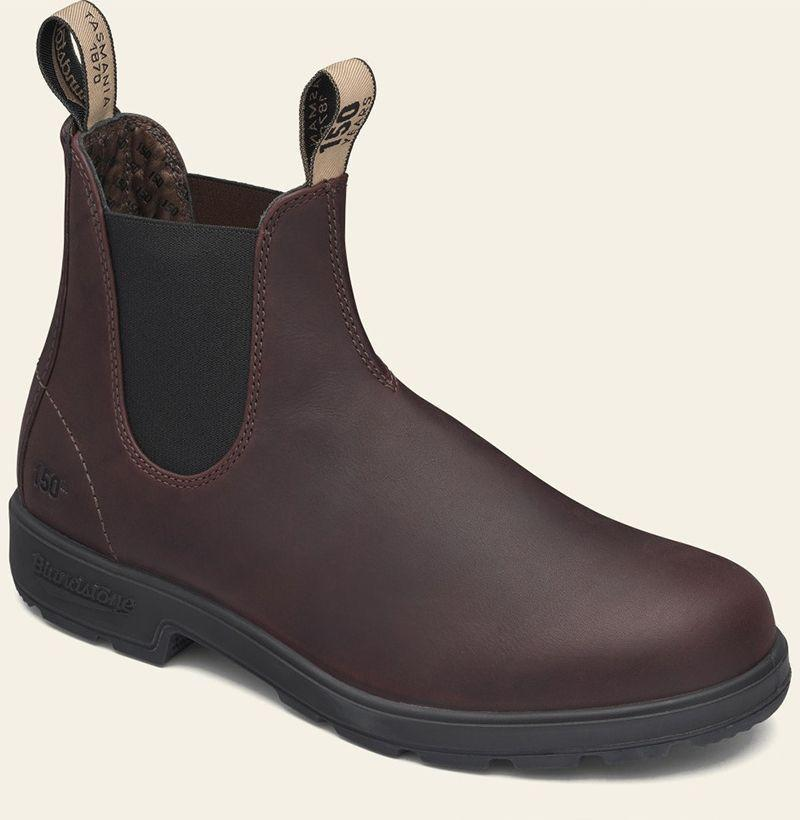 """<p><strong>Blundstone</strong></p><p>blundstone.com</p><p><strong>$150.00</strong></p><p><a href=""""https://www.blundstone.com/auburn-premium-leather-chelsea-boots-mens-style-150"""" rel=""""nofollow noopener"""" target=""""_blank"""" data-ylk=""""slk:Buy"""" class=""""link rapid-noclick-resp"""">Buy</a></p><p>Blundstone dropped a limited-edition take on its classic Chelsea boot in honor of the style's 150th anniversary, and needless to say it slaps. </p>"""