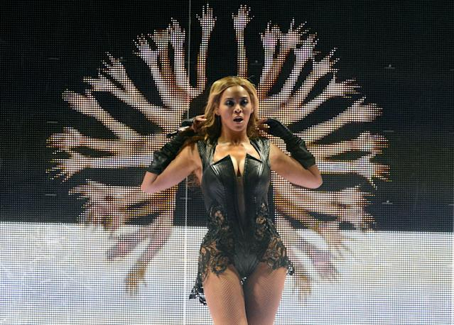 Beyonce performs during the Pepsi Super Bowl XLVII Halftime Show at Mercedes-Benz Superdome on February 3, 2013 in New Orleans, Louisiana. (Photo by Kevin Mazur/WireImage)