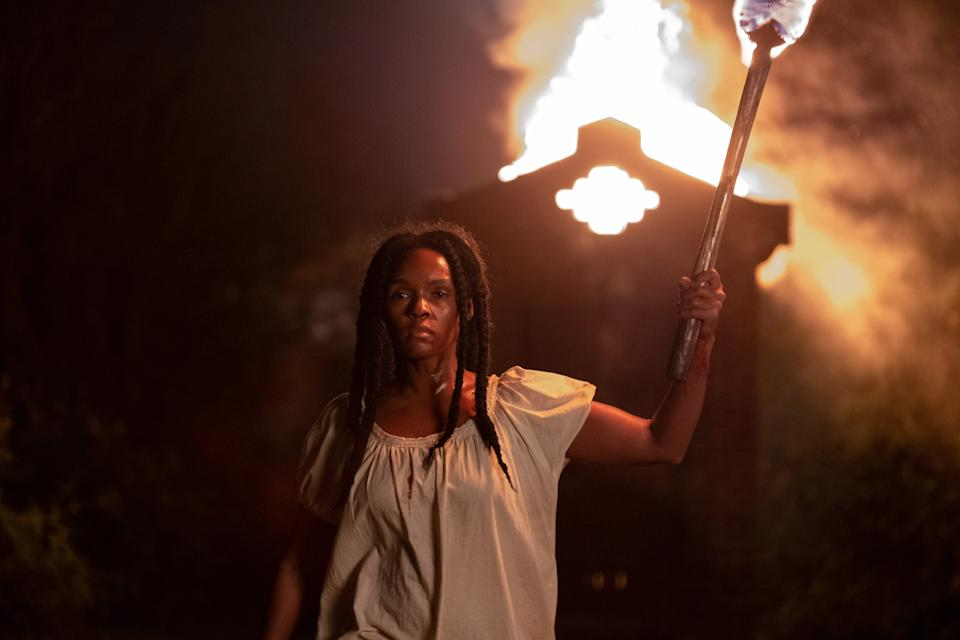 """Janelle Monae has dual roles in the horror film """"Antebellum,"""" including as an enslaved woman who plots her escape."""