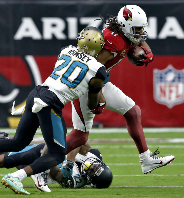 One wideout managed to keep Jalen Ramsey quiet on game day: Arizona's Larry Fitzgerald. (AP)