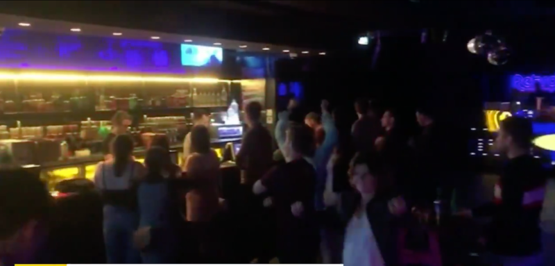 More footage from inside a Brisbane venue. Source: Today