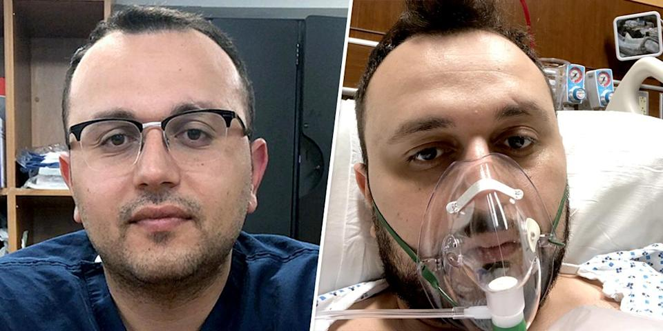 Dr. Anar Yukhayev, an OB/GYN at Long Island Jewish Medical Center in New York, was hospitalized for more than a week with Covid-19. (Dr. Anar Yukhayev)