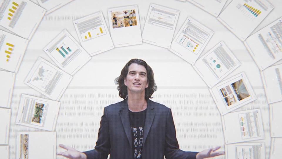 "The rise and fall of Adam Neumann's tech company is chronicled in the Hulu documentary ""WeWork: or the Making and Breaking of a $47 Billion Unicorn."""