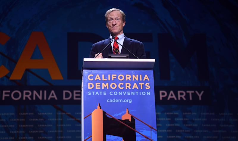 Tom Steyer at the 2019 California Democratic Party State Convention in San Francisco. (Photo: Josh Edelson/AFP/Getty Images)