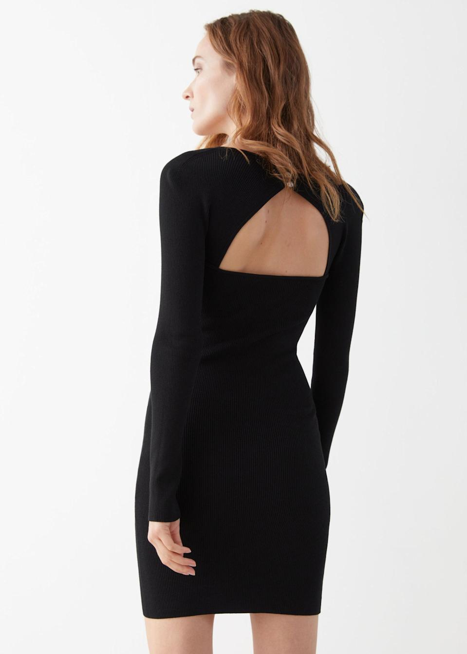 <p>It's all about the details of this <span>Ribbed Sweetheart Neck Bustier Mini Dress</span> ($59, originally $119).</p>