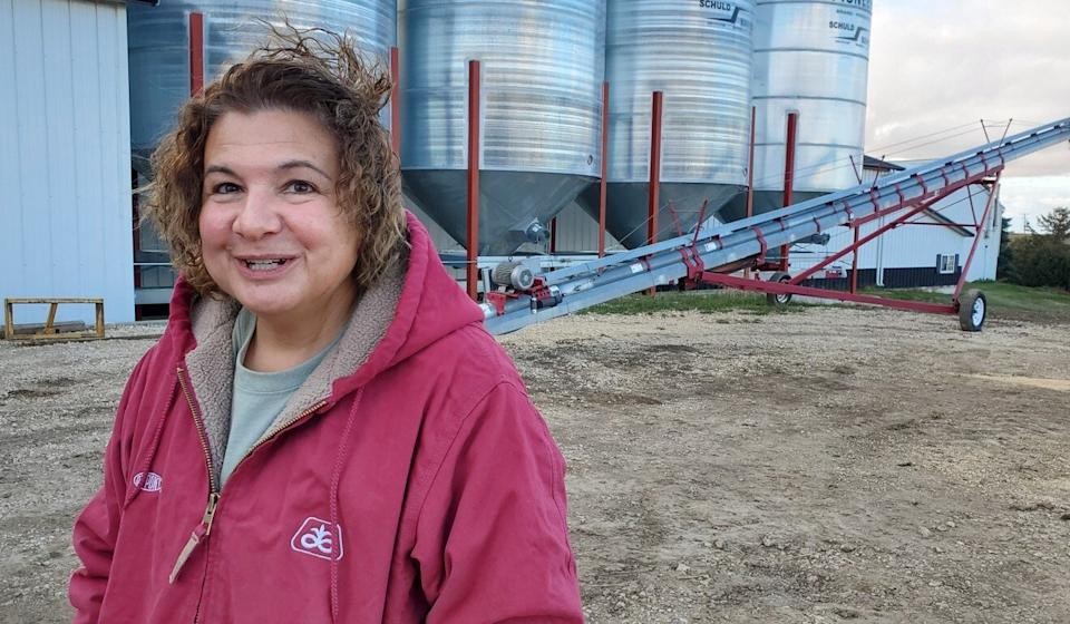 Suzanne Shirbroun grows corn and soybeans on her Iowa farm. Photo: Mark Magnier