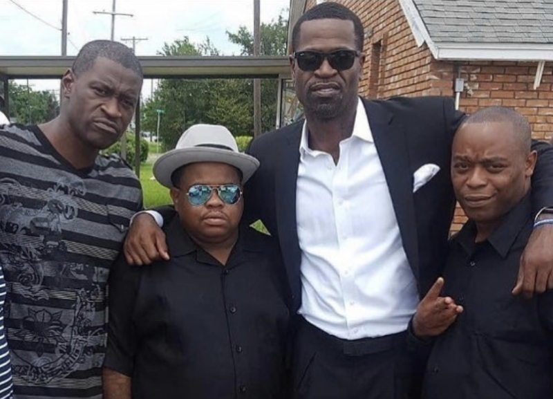 Retired NBA star Stephen Jackson, second from right, and George Floyd, left, were longtime friends. (Jackson/Instagram)