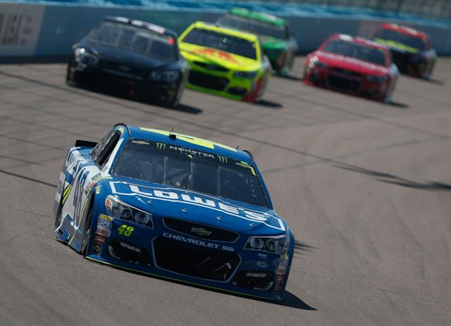 "<a class=""link rapid-noclick-resp"" href=""/nascar/sprint/drivers/213/"" data-ylk=""slk:Jimmie Johnson"">Jimmie Johnson</a> finished ninth at Phoenix. (Getty)"