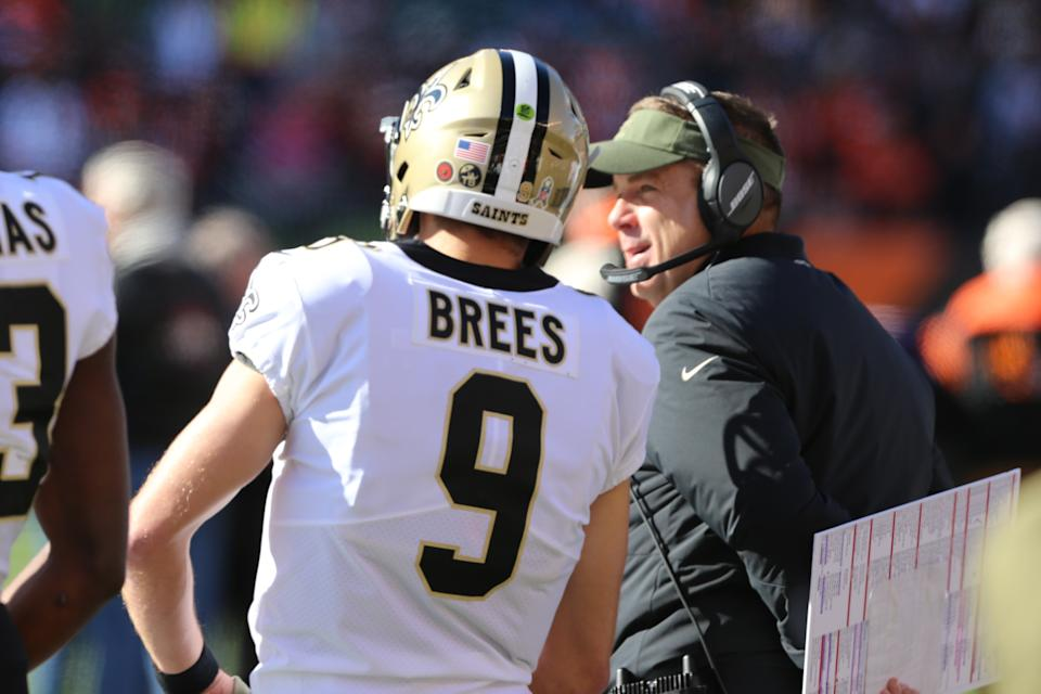 How long can the New Orleans Saints run with Drew Brees and Sean Payton before they need to find Brees' successor? (Getty Images)
