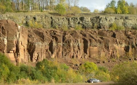 The mid-Ordovician limestone section studied at Kinnekulle in Sweden - Credit: Birger Schmitz, Lund University
