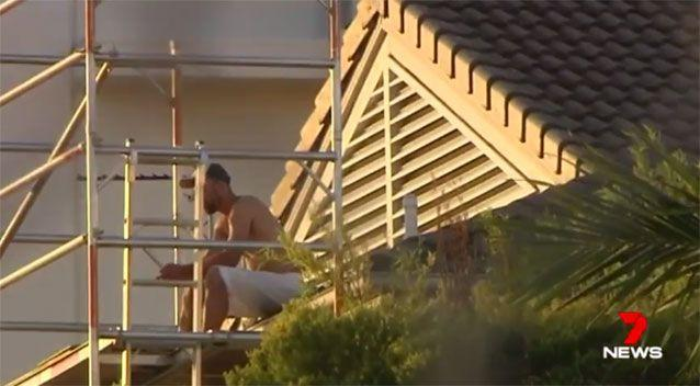 Kenning on the rooftop. Source: 7News