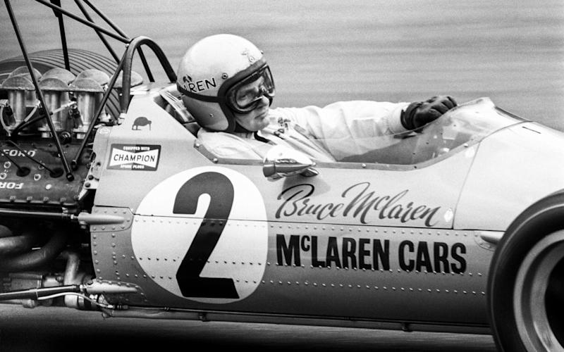 Bruce McLaren racing McLaren-Ford M7A in 1968 - Credit: Mike Haywood Collection