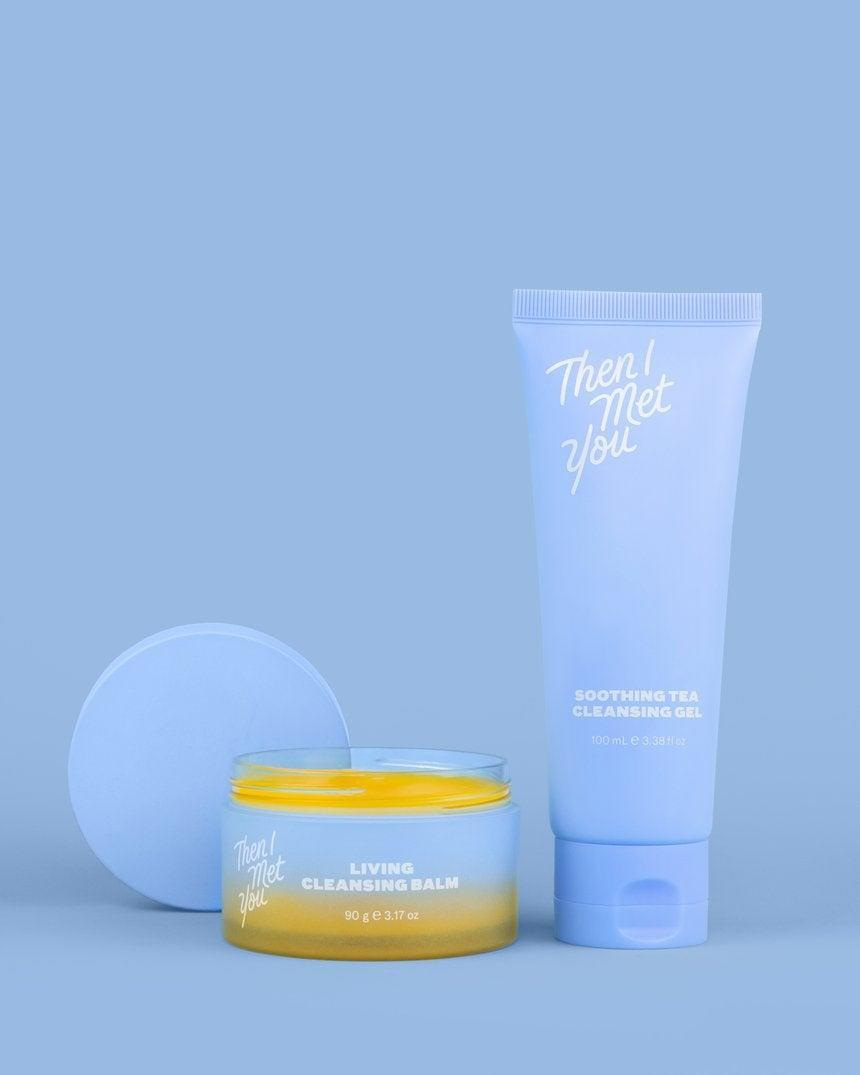 """<h3>Then I Met You The Cleansing Duo</h3><br>Love skin care? Behold, a double-cleansing duo to soothe, revitalize, nourish, and purify skin in need of a pick me up. <br><br><strong>Then I Met You</strong> The Cleansing Duo, $, available at <a href=""""https://go.skimresources.com/?id=30283X879131&url=https%3A%2F%2Fsokoglam.com%2Fcollections%2Fthen-i-met-you%2Fproducts%2Fthen-i-met-you-the-cleansing-duo"""" rel=""""nofollow noopener"""" target=""""_blank"""" data-ylk=""""slk:Soko Glam"""" class=""""link rapid-noclick-resp"""">Soko Glam</a>"""