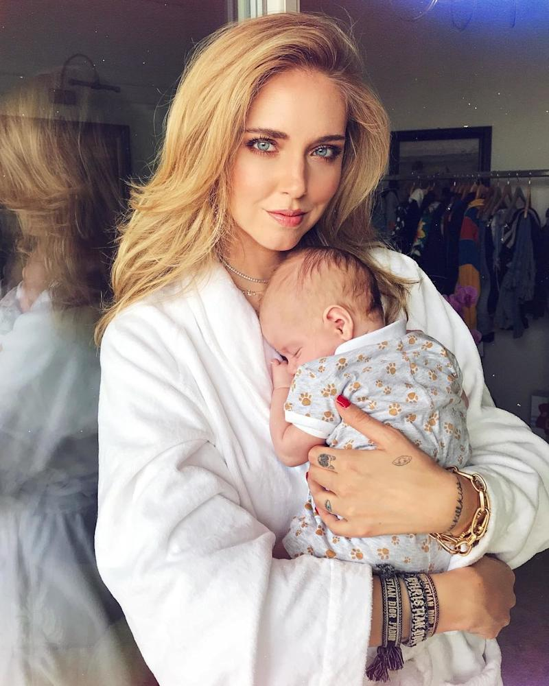 Having conquered fashion blogging, Chiara Ferragni, aka The Blonde Salad, gave birth to her first child, whom she's nicknamed Leo, this March. (She's currently engaged to the Italian rapper fiancé Fedez.)