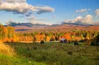 """It's hard to say which is prettier: the northern Vermont forest of Mount Mansfield, popularly known as <a href=""""https://www.cntraveler.com/story/what-to-do-in-vermont-this-summer?mbid=synd_yahoo_rss"""" rel=""""nofollow noopener"""" target=""""_blank"""" data-ylk=""""slk:Stowe"""" class=""""link rapid-noclick-resp"""">Stowe</a>, or the romantic journey there—think country roads, streams (with steam rising off of them at the right time of day), and covered bridges. The Sunset Ridge Trail to the summit is mostly above the treeline, practically guaranteeing great views of the landscape below. Once you're up top, look west toward the colors of Lake Champlain."""