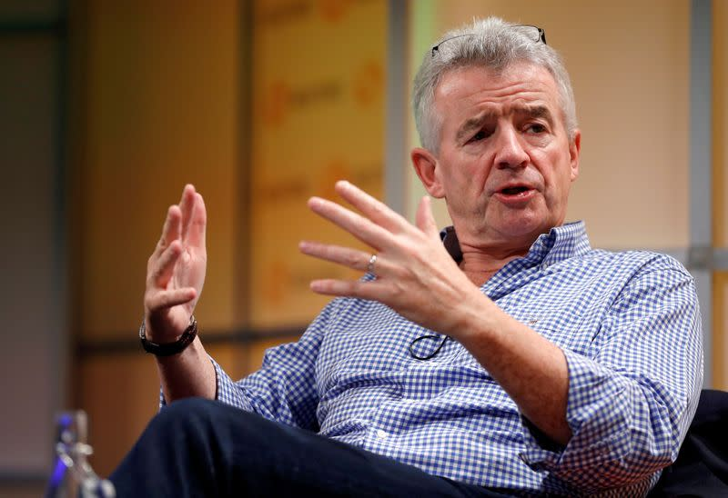 FILE PHOTO: Ryanair Chief Executive Michael O'Leary attends a Reuters Newsmaker event in London