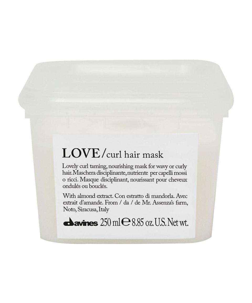 <p><span>Davines Love Curl Mask</span> ($36) will keep curls ultra conditioned without compromising their shape and springiness. Thanks to Noto almond extract in the creamy formula, this mask will deeply moisturize strands without disrupting the texture of the hair.</p>
