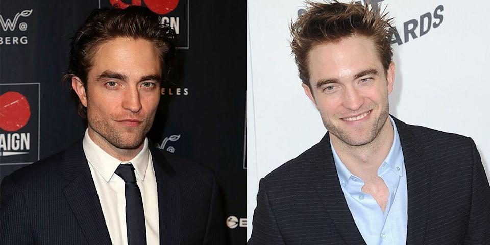 <p>Perhaps Robert Pattinson was building off of his <em>Twilight </em>persona, but it's rare to see him grin. Usually, the actor sticks with a serious pout when posing. </p>