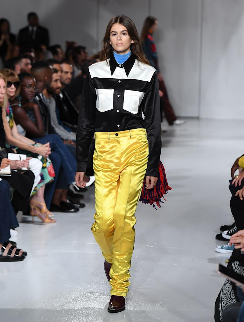 Kaia Gerber walks the runway for the Calvin Klein Collection fashion show during New York Fashion Week on September 7, 2017 in New York City.