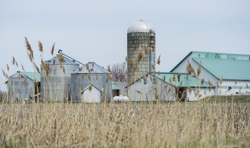 A dairy farm south of Montreal, Quebec. Photo from CP Images
