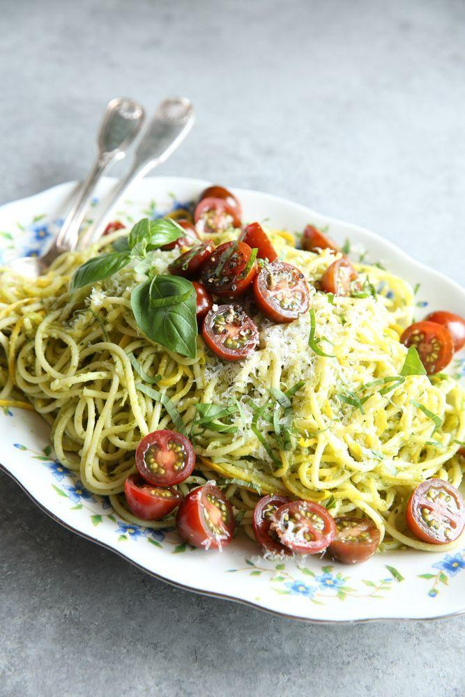 """<p>Veg out with this super-fresh summer pasta.</p><p>Get the recipe from <a href=""""https://www.delish.com/cooking/recipe-ideas/recipes/a47847/pesto-spaghetti-with-summer-squash-recipe/"""" rel=""""nofollow noopener"""" target=""""_blank"""" data-ylk=""""slk:Delish"""" class=""""link rapid-noclick-resp"""">Delish</a>.</p>"""