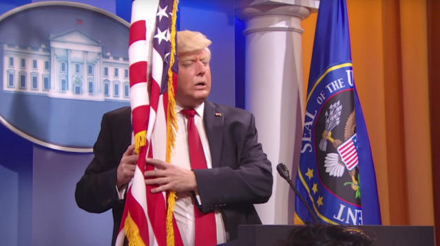 """On Thursday, """"The President Show"""" held a press conference to not answer any questions about critical things happening within the administration."""