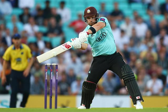Big-hitter: Aaron Finch: Getty Images