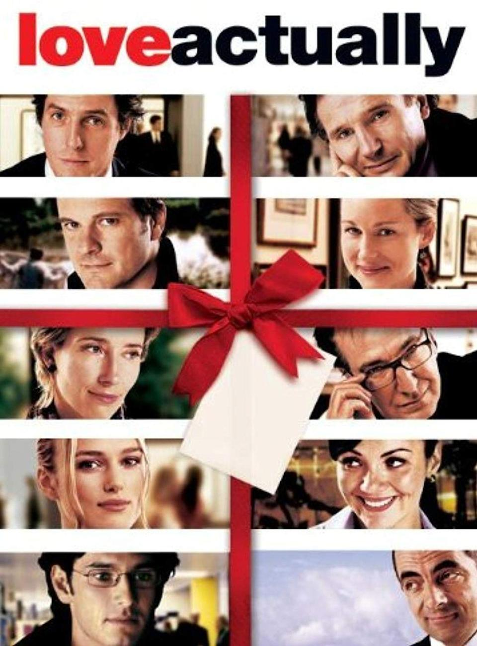 """<p>This 2003 rom-com — which follows the love stories of almost a dozen couples throughout the holiday season — has quickly become part of the classic canon of Christmas movies.</p><p><a class=""""link rapid-noclick-resp"""" href=""""https://www.amazon.com/Love-Actually-Bill-Nighy/dp/B001JIES4Q/?tag=syn-yahoo-20&ascsubtag=%5Bartid%7C10055.g.1315%5Bsrc%7Cyahoo-us"""" rel=""""nofollow noopener"""" target=""""_blank"""" data-ylk=""""slk:WATCH NOW"""">WATCH NOW</a></p><p><strong>RELATED</strong>: <a href=""""https://www.goodhousekeeping.com/holidays/christmas-ideas/g23568017/romantic-christmas-movies/"""" rel=""""nofollow noopener"""" target=""""_blank"""" data-ylk=""""slk:The 25+ Most Romantic Christmas Movies of All Time"""" class=""""link rapid-noclick-resp"""">The 25+ Most Romantic Christmas Movies of All Time</a></p>"""